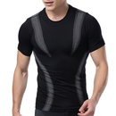 TopTie Men's Compression Base Layer Short Sleeve Top