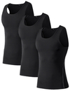 TopTie Men's 3 Pack Under Base Layer Sport Tank Top, Compression Shirt
