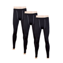 TopTie Men's 3 Pack Compression Tights, Under Leggings Base Layer, Gear Wear Pants