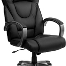 Flash Furniture BT-9069-BK-GG Black Leather High Back Executive Office Chair