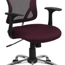 Flash Furniture H-8369F-ALL-BY-GG Burgundy Mesh Executive Office Chair