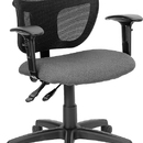 Flash Furniture WL-A7671SYG-GY-A-GG Gray Fabric and Mesh Task Chair with Arms