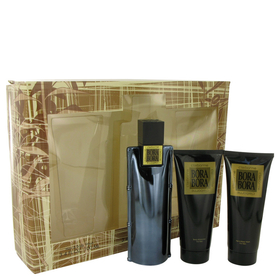 Bora Bora by Liz Claiborne - Gift Set -- 3.4 oz Cologne Spray + 3.4 oz Body Moisturizer + 3.4 oz  Hair & Body Wash for Men