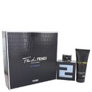 Fendi 530518 Gift Set -- 3.3 oz Eau De Toilette Spray + 3.3 oz All Over Shampoo, For Men