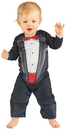 Faux Real F122165 Infant Bow Tie Tuxedo Romper Costume