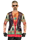 Faux Real F130931 Xmas Biker Sweater w/ Tattoos Costume