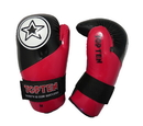 Top Ten Point Fighter Glossy Gloves, Black/Red - 21669-G