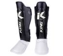 King Professional Shin Guards Color Series, Black/White - BSGK-BW