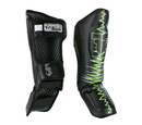 Fighter Shinguards Heartbeat, Black/Green - JE1573HBG