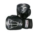 Fighter Boxing Gloves Heartbeat, Black/White - JE1611HBW