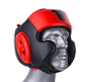 Fighter Leather Sparring Headguard, Black/Red - NL2796R