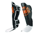 King Professional Shin Guards Color Series, Black/White/Orange - SGK-BWO