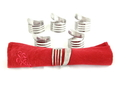 Forked Up Art P06 Napkin Rings - 6 Piece Set