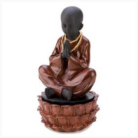 Gifts & Decor 12643 Sitting Monk Decorative Jewelry Hidden Treasure Box