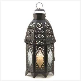 Gifts & Decor 13365 Black Lattice Lantern Candle Holder Home Wedding Decor