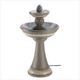 Mosaic Courtyard Garden Faux Granite Finish Fountain, Price/EA