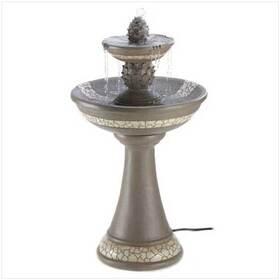 Gifts & Decor 13807 Mosaic Courtyard Garden Faux Granite Finish Fountain, Price/EA