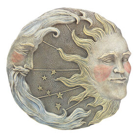 Furniture Creations 32269 Celestial Sun Moon Star Wall Plaque Astral Garden Decor