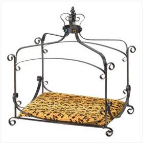 Furniture Creations 38683 Royal Splendor Pet Metal Canopy Bed Small Dog Cat Puppy