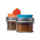Jarware 82642 Spice Lids S/2 orange & blue