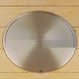 """Gared 6429 5"""" I.D., 6-1/4"""" T.D. Brass Locking Cover Plate"""