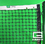 Gared GSTNET30LS 42', 3.5 MM Premium Polyethylene Tennis Net