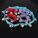 Aspire Colored Velcro Jingle Bell Set, 2 Wrist + 1 Waist + 2 Ankle Bell