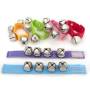 12 Pcs Rhythm Band Wrist Bells, Assorted Colors