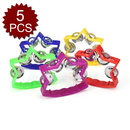 Aspire Musical Toys For Toddler, 4 Jingle Bell Star Shape Tambourine, 5 Pcs