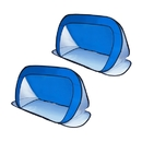 ALEKO 2PUSG03 Portable Pop Up Soccer Goals 28 X 52 Inches (0.7 X 1.3 m) Outdoor Sports Entertainment Soccer Net with Carry Bag, Set of 2, Blue