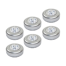 ALEKO AP303 Wireless Battery-Powered Stick-On LED Touch Push Lights, Set of 6