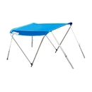 ALEKO BSTENT250B Summer Canopy Boat Tent Sunshade Shelter for Inflatable Boats, Blue