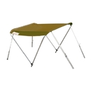 ALEKO BSTENT420WE Summer Canopy Boat Tent Sunshade Shelter for Inflatable Boats, Wheat Color