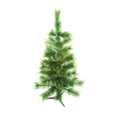 ALEKO CT48H14 Luscious Artificial 4 Feet (1.2 m) Christmas Holiday Pine Tree With Golden Tips