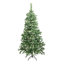ALEKO CTDG84H250WH Luscious 7.5 Feet (2.3 m) Artificial Christmas Tree With Soft White LED Lights, Dark Green Color