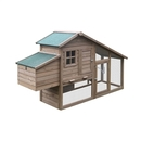 ALEKO DXH657BR Wooden Rabbits, Chickens, Hen Coop Wooden Cage 75 X 25.5 X 44.5 Inches (1.9 X 0.65 X 1.1 m), Brown