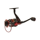 ALEKO FR6BBB X5000 Fishing Spinning Reel with Gear Ratio: 4.7:1, Red and Black Color