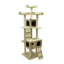 ALEKO MP-02-AP MP-02 73 inch Height Cat Tree Condo Scratching Post Colors: Beige, Gray
