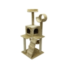 ALEKO MP-07-AP MP-07 47 inch Height Cat Tree Condo Scratching Post Colors: Beige