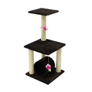 ALEKO MP-10-AP MP-10 33 inch Height Cat Tree Condo Scratching Post Colors: Brown, Cream