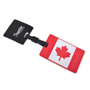 TopTie Luggage Tags, Canada Flag, Luggage ID Tag with Loop, Travelling Accessories
