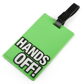 "TopTie Travelling Luggage Tag with ID Card - ""Hands Off"", Price/6 Pcs"