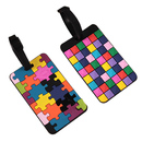 TopTie Set of 2 Luggage Tags Colorful Patterns With Name Card Travel Accessories