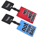 TopTie Set of 2 PVC Luggage Tags Travel Accessories Identifier with Name Card