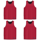 GOGO TEAM 4 Pack Reversible Basketball Jerseys, Lacrosse Jersey, Mesh Tank