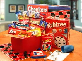 """Its Game Time"" Boredom & Stress Relief Gift Set, Gift Basket"