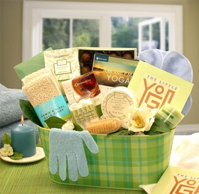 A Little Yoga & Green Tea Essentials Gift Set , Gift Basket