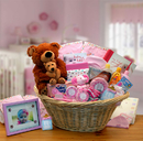 Gift Basket 890111-P Deluxe Welcome Home Precious Baby Basket-Pink