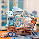Gift Basket 890152-B Our Precious Baby New Baby Carrier - Blue