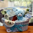 Gift Basket 890551-B Deluxe Organic New Baby Gift Basket - Blue